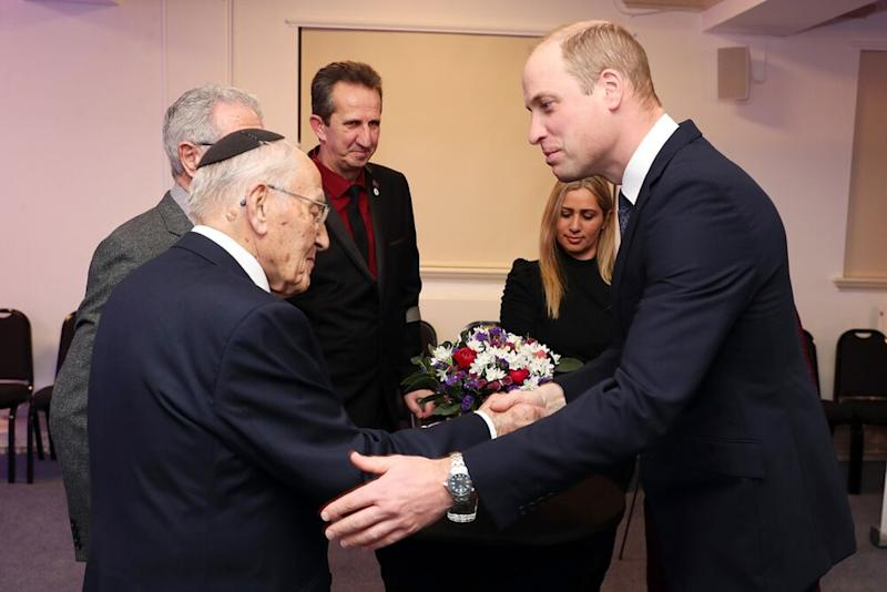 Manfred Goldberg and Prince William at the U.K. Holocaust Memorial Day Commemorative Ceremony | Chris Jackson/Getty