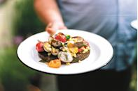 """This summer recipe is <a href=""""https://www.epicurious.com/recipes-menus/9-essential-cookbook-recipes-for-summer-article?mbid=synd_yahoo_rss"""" rel=""""nofollow noopener"""" target=""""_blank"""" data-ylk=""""slk:a favorite"""" class=""""link rapid-noclick-resp"""">a favorite</a> of Epi's June Kim: """"It encapsulates everything that's perfect about summer,"""" she says. <a href=""""https://www.epicurious.com/recipes/food/views/corn-tomatoes-clams-grilled-bread-six-seasons?mbid=synd_yahoo_rss"""" rel=""""nofollow noopener"""" target=""""_blank"""" data-ylk=""""slk:See recipe."""" class=""""link rapid-noclick-resp"""">See recipe.</a>"""
