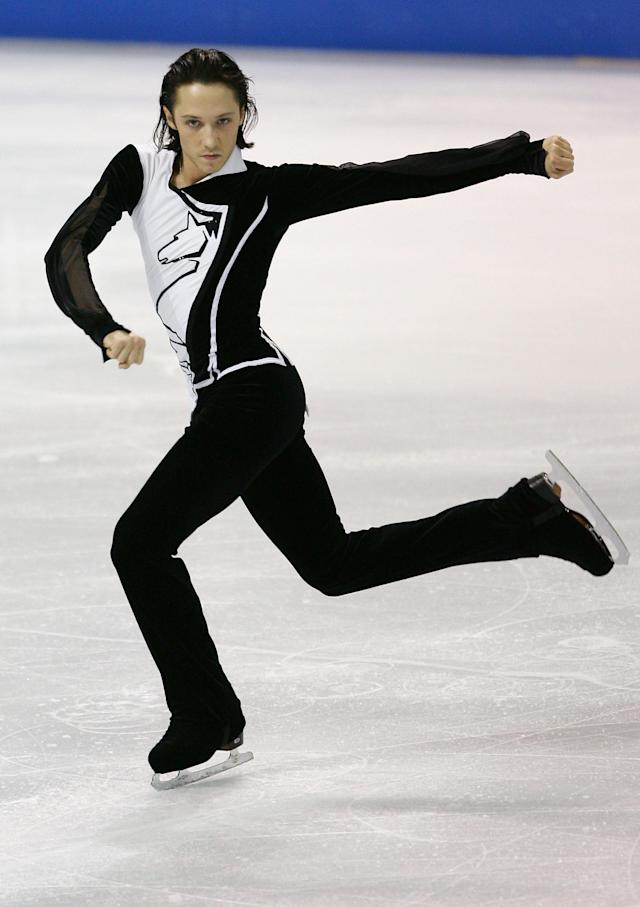 Performingin themen's short program competition on day two of Skate Canada on Nov. 3, 2006, in Victoria, Canada.