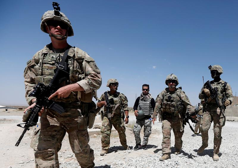 U.S. troops patrol at an Afghan National Army (ANA) Base in Logar province, Afghanistan Aug. 7, 2018. (Photo: Omar Sobhani/Reuters)