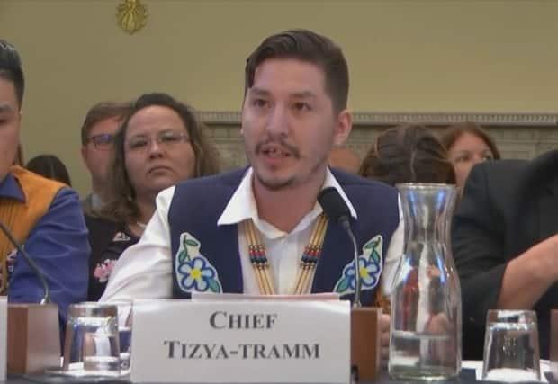 Vuntut Gwitchin Chief Dana Tizya-Tramm, testifying in 2019 in Washington before a U.S. congressional subcommittee, on protecting ANWR. Tizya-Tramm commended Biden and Trudeau on Wednesday for agreeing to cooperate on ANWR.