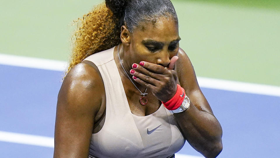 Serena Williams, pictured here in action against Victoria Azarenka in the US Open semi-finals.