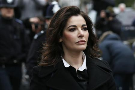 TV chef Nigella Lawson arrives at Isleworth Crown Court in west London