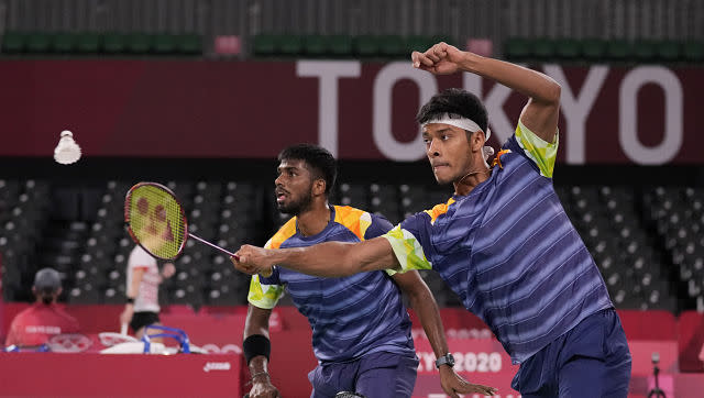 India's men's doubles pair of Satwiksairaj Rankireddy and Chirang Shetty went down in straight games to Marcus Gideon Fernaldi and Kevin Sanjaya Sukamuljo of Indonesia in their Group A game. Despite the loss, they stay second in the group with one match remaining. AP