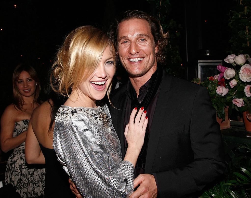 "<a href=""http://movies.yahoo.com/movie/contributor/1800018574"">Kate Hudson</a> and <a href=""http://movies.yahoo.com/movie/contributor/1800018907"">Matthew McConaughey</a> at the Dolce & Gabbana ""The One"" Fragrance Launch - 12/04/2007"