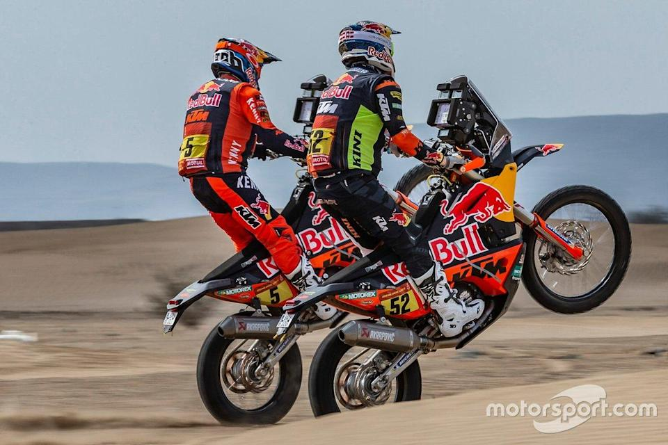 "#5 Red Bull KTM Factory Racing: Sam Sunderland, #52 Red Bull KTM Factory Team: Matthias Walkner<span class=""copyright"">KTM Images</span>"