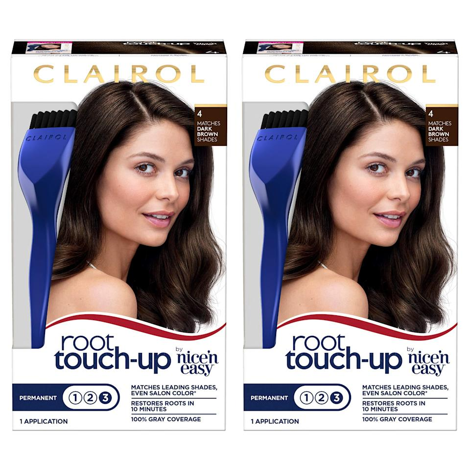 """<h2>Clairol</h2><br>Get 30% off <a href=""""https://amzn.to/3xoTCX6"""" rel=""""nofollow noopener"""" target=""""_blank"""" data-ylk=""""slk:Nice'n Easy"""" class=""""link rapid-noclick-resp"""">Nice'n Easy</a> and <a href=""""https://amzn.to/2TXD4Hi"""" rel=""""nofollow noopener"""" target=""""_blank"""" data-ylk=""""slk:Root Touch-up"""" class=""""link rapid-noclick-resp"""">Root Touch-up</a> products<br><br><strong><em>Shop <a href=""""https://amzn.to/3vvNxXA"""" rel=""""nofollow noopener"""" target=""""_blank"""" data-ylk=""""slk:Clairol"""" class=""""link rapid-noclick-resp"""">Clairol</a></em></strong><br><br><strong>Clairol</strong> Nice 'n Easy Root Touch-Up (Pack of 2), $, available at <a href=""""https://amzn.to/2TXD4Hi"""" rel=""""nofollow noopener"""" target=""""_blank"""" data-ylk=""""slk:Amazon"""" class=""""link rapid-noclick-resp"""">Amazon</a>"""