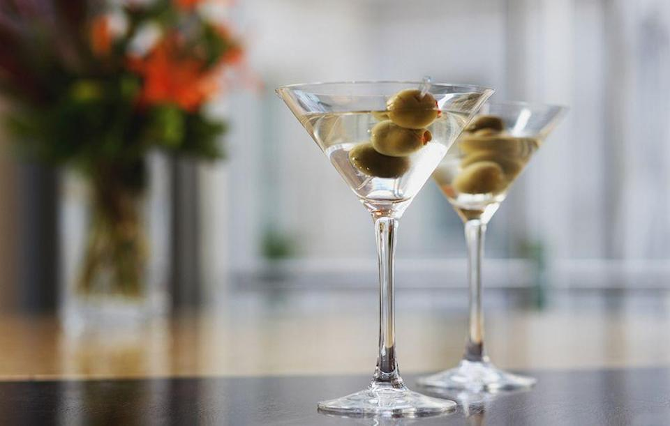 """<p>""""<a href=""""http://www.prevention.com/food/6-drinks-nutritionists-feel-good-about-ordering-at-happy-hour"""" rel=""""nofollow noopener"""" target=""""_blank"""" data-ylk=""""slk:Cocktail hour"""" class=""""link rapid-noclick-resp"""">Cocktail hour</a>! I open the wine; she makes my martini. Even when we are together all day, cocktail hour is special."""" <em>–Howard</em></p>"""