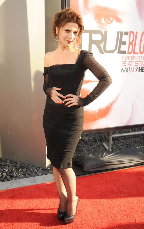 """Valentina Cervi attends HBO's """"True Blood"""" Season 5 Los Angeles premiere at ArcLight Cinemas Cinerama Dome on May 30, 2012 in Hollywood, California."""
