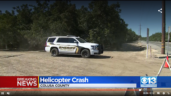 The Colusa County Sheriff's Department says the four people died at the scene of the crash (Screengrab/CBS News)