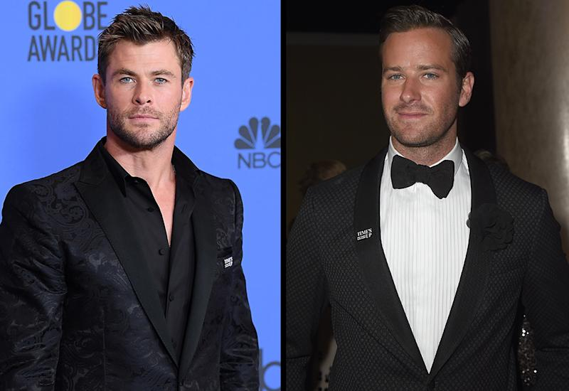 Chris Hemsworth and Armie Hammer