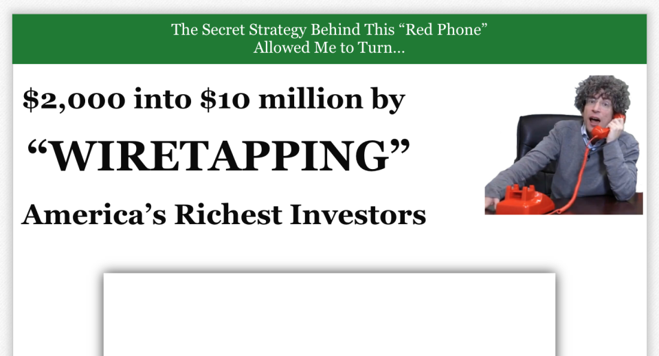 Altucher frequently uses quotes in his pitches. (Screenshot: Yahoo Finance)
