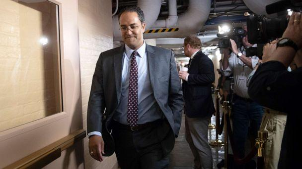 PHOTO: Rep. Will Hurd, whose congressional district runs along the majority of Texas's border with Mexico, arrives for a closed-door GOP meeting in the basement of the Capitol in Washington, June 7, 2018. (J. Scott Applewhite/AP, FILE)