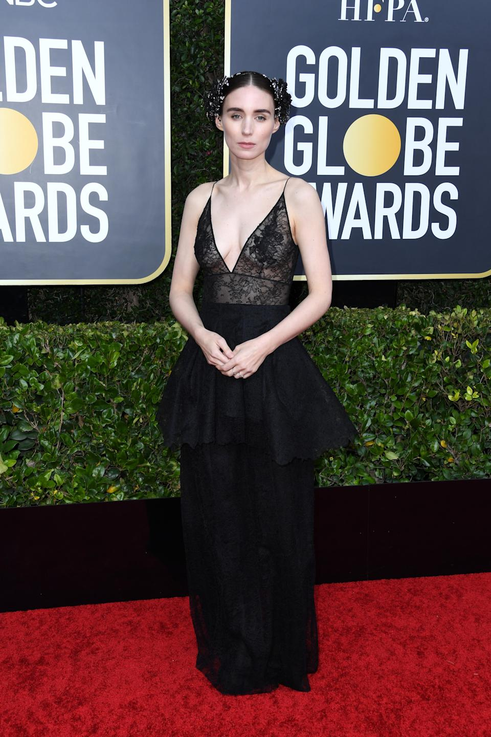 "<h1 class=""title"">Rooney Mara in Givenchy and Fred Leighton jewelry</h1><cite class=""credit"">Photo: Getty Images</cite>"