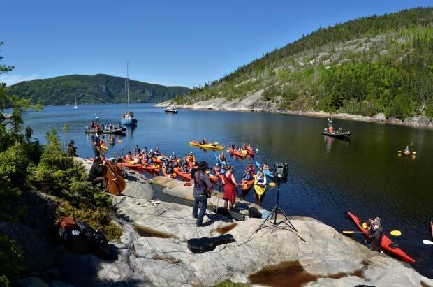 The Festival de la chanson de Tadoussac is going ahead this summer, though with fewer people than in the 2019 edition pictured here.  (Marc Loiselle - image credit)