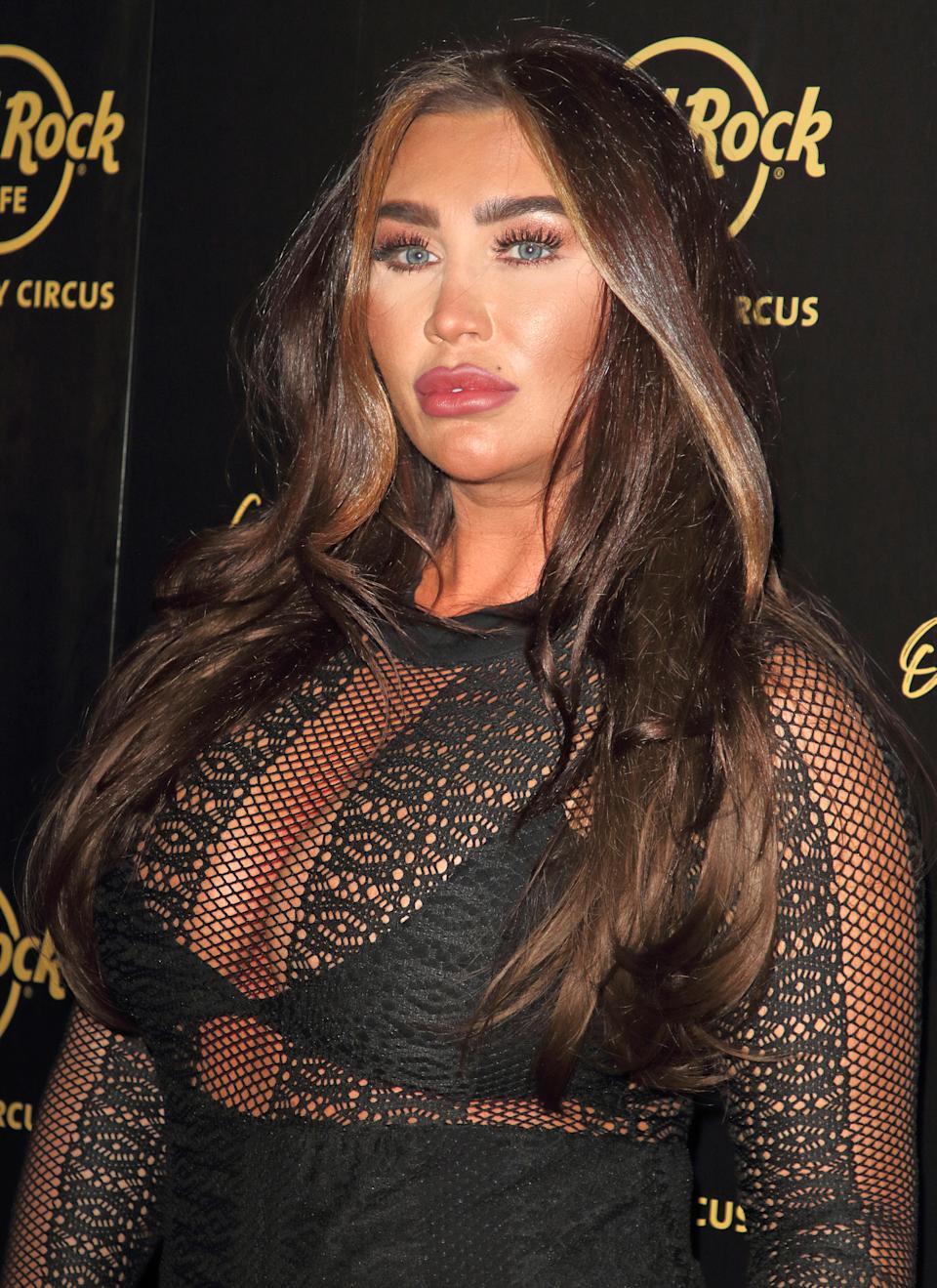 LONDON, UNITED KINGDOM - 2019/09/12: Lauren Goodger on the red carpet at the Hard Rock Cafe Piccadilly Circus Launch Party in London. (Photo by Keith Mayhew/SOPA Images/LightRocket via Getty Images)