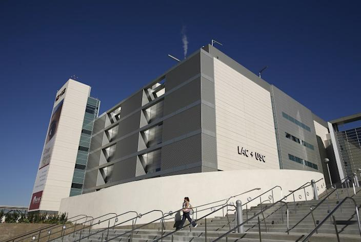 A $1.5-million medical malpractice lawsuit stemming from a surgery at L.A. County-USC Medical Center, pictured, was settled by L.A. County supervisors.