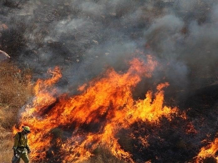 A wildfire dubbed the Pope Fire broke out Tuesday afternoon in the Pope Valley area of Napa County, according to Cal Fire.