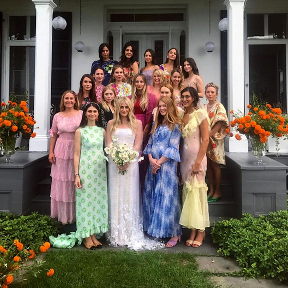 <p>The Olsens headed to the Southwood estate located on the east bank of the Hudson River to celebrate the wedding of their longtime friends Cassie Coanes. The dress code was florals, and the twins unsurprisingly wore vintage. </p>