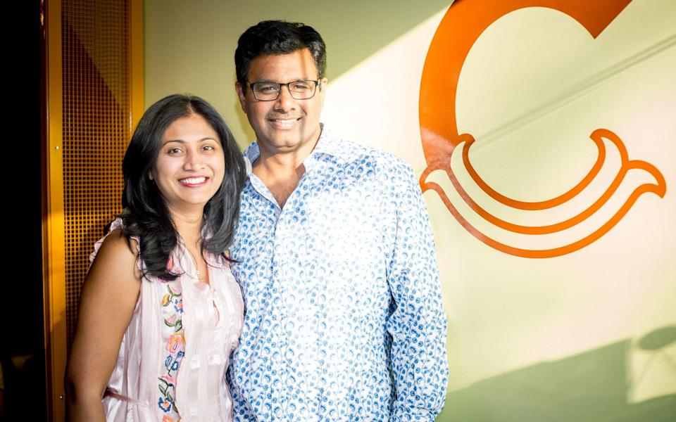 Nandana and Sharat Syamala, owners of Clay's Hyderabadi Kitchen