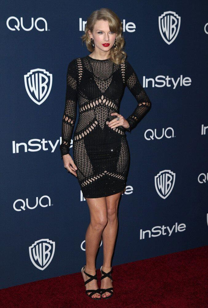 Taylor Swift arrives at the 15th annual InStyle and Warner Bros. Golden Globes after party at the Beverly Hilton Hotel on Sunday, Jan. 12, 2014, in Beverly Hills, Calif. (Photo by Matt Sayles/Invision/AP)
