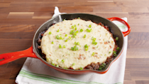 """<p>The star of this shepherd's pie is the cheesy, creamy mashed cauliflower layer.</p><p>Get the recipe from <a href=""""https://www.delish.com/cooking/recipe-ideas/recipes/a50198/southwest-shepherds-pie-with-mashed-cauliflower-cheddar-bacon-recipe/"""" rel=""""nofollow noopener"""" target=""""_blank"""" data-ylk=""""slk:Delish"""" class=""""link rapid-noclick-resp"""">Delish</a>. </p>"""