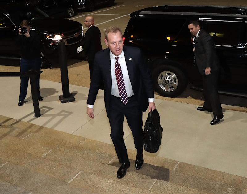 Acting U.S. Defense Secretary Patrick Shanahan arrives