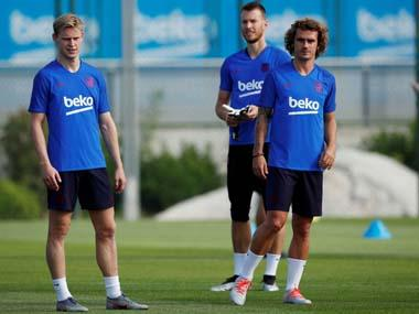 LaLiga: French striker Antoine Griezmann trains with Barcelona following controversial move from Atletico Madrid