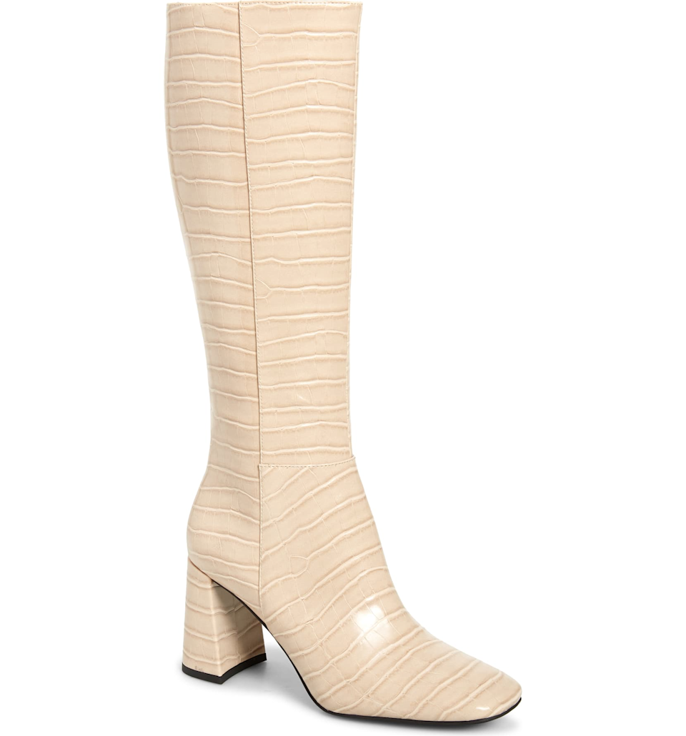 """<br><br><strong>Jeffrey Campbell</strong> Patti Knee High Boot, $, available at <a href=""""https://go.skimresources.com/?id=30283X879131&url=https%3A%2F%2Fwww.nordstrom.com%2Fs%2Fjeffrey-campbell-patti-knee-high-boot-women%2F5699697"""" rel=""""nofollow noopener"""" target=""""_blank"""" data-ylk=""""slk:Nordstrom"""" class=""""link rapid-noclick-resp"""">Nordstrom</a>"""