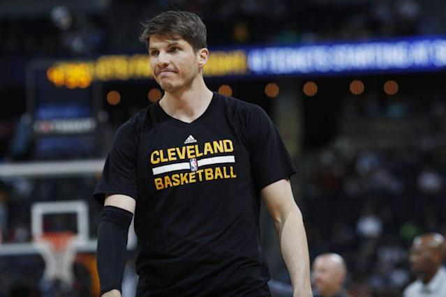 "<a class=""link rapid-noclick-resp"" href=""/nba/players/3754/"" data-ylk=""slk:Kyle Korver"">Kyle Korver</a> shot 45.1 percent from 3-point range last season. (AP)"