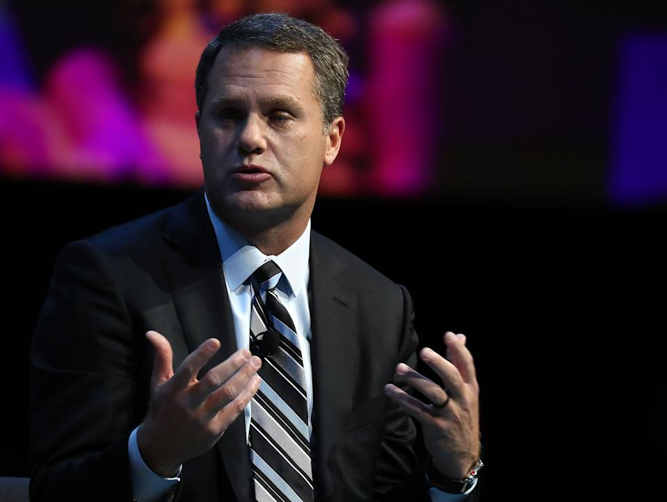 """WASHINGTON, DC - DECEMBER 06:  Doug McMillon, president and CEO of Walmart Inc. Corporation, participates in a Business Roundtable discussion on the""""Future of Work in an Era of Automation and Artificial Intelligence"""", during a CEO Innovation Summit, on December 6, 2018 in Washington, DC.  (Photo by Mark Wilson/Getty Images)"""