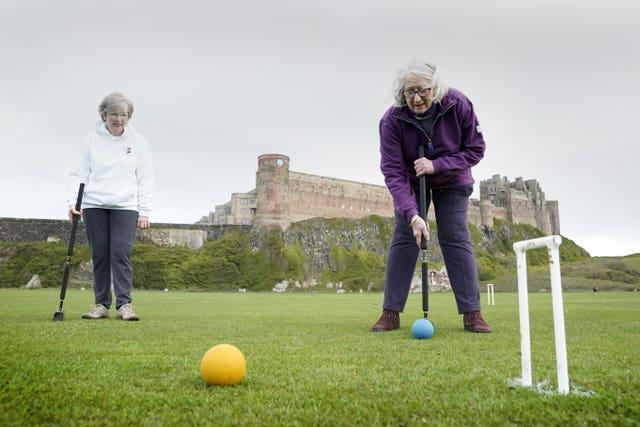 Croquet at Bamburgh Castle