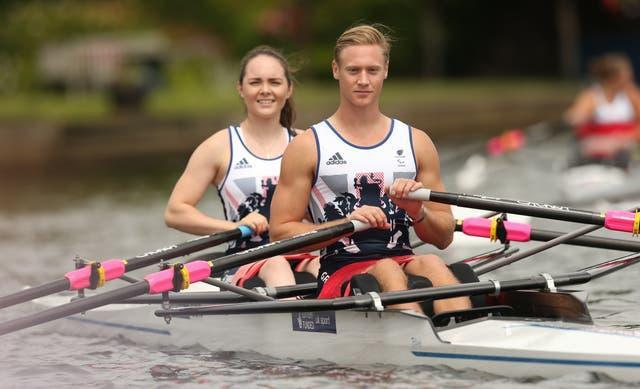 Laurence Whiteley, front, and Lauren Rowles are gunning for further glory