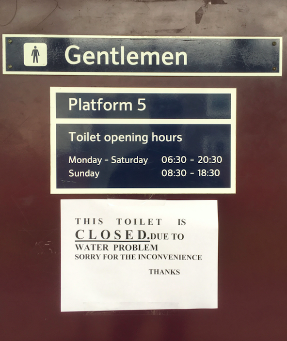 Twickenham station toilets were closed because of the water problem (PA)