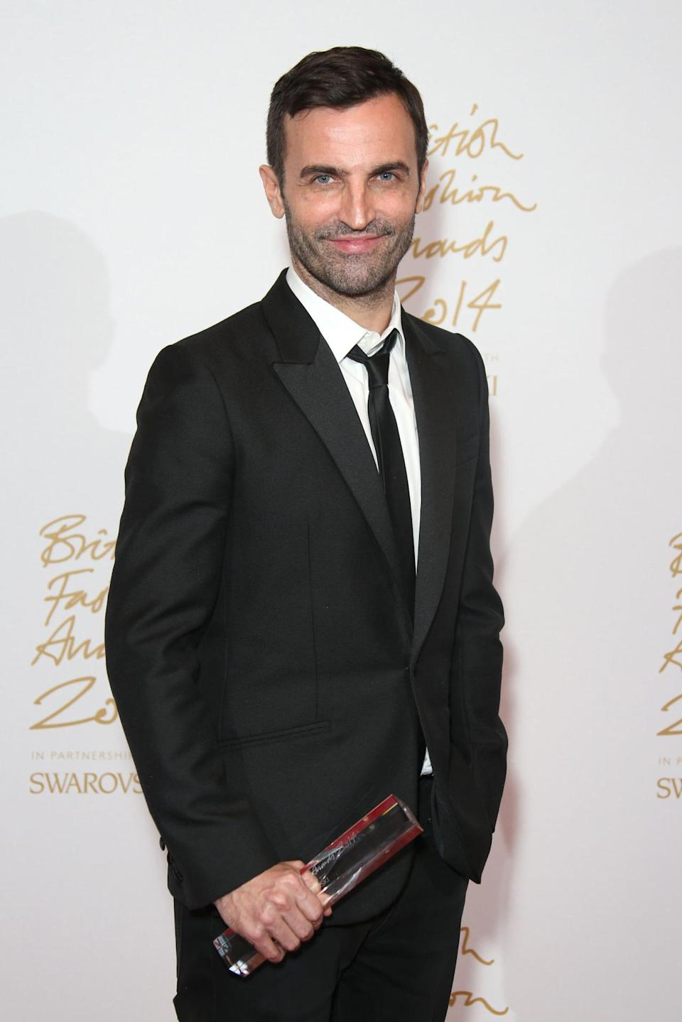 """""""I'm still discovering something everyday,"""" Nicolas Ghesquière, the winner of International Designer of the Year, revealed. The 43-year-old, who is the current creative director at Louis Vuitton, said that he draws inspiration not only from his travels all around the world but his peers as well including J.W. Anderson and Rei Kawakubo."""