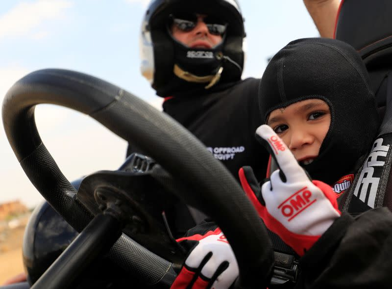 The five-year-old who wants to race in his father's footsteps