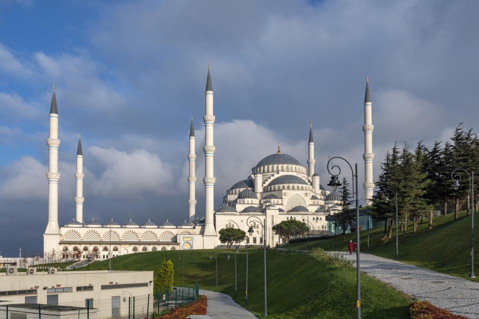 The Grand Camlica Mosque in Uskudar district of Istanbul, Turkey. Photo: Getty