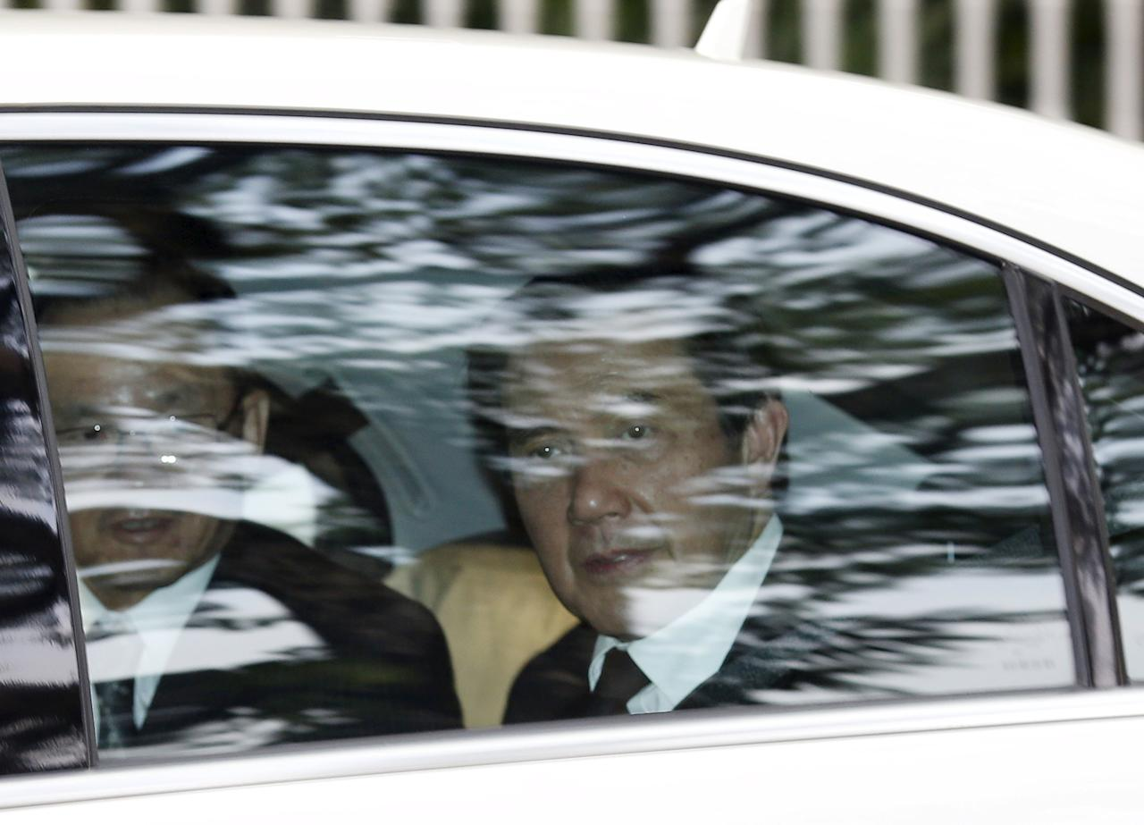 Taiwan's President Ma Ying-jeou leaves the Istana after paying his respects to Singapore's first prime minister Lee Kuan Yew, in Singapore March 24, 2015. Ma flew to Singapore on Tuesday to pay his last respects to Lee, who died aged 91 on Monday.   REUTERS/Edgar Su       TPX IMAGES OF THE DAY
