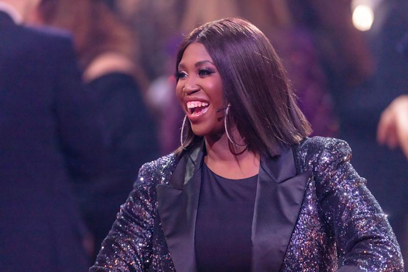 "Motsi Mabuse laughs during the 2nd show of the 13th season of the television competition ""Let's Dance"" on March 6, 2020 in Cologne, Germany. (Photo by Mario Hommes/DeFodi Images via Getty Images)"