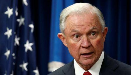 Attorney General Jeff Sessions delivers remarks on issues related to visas and travel