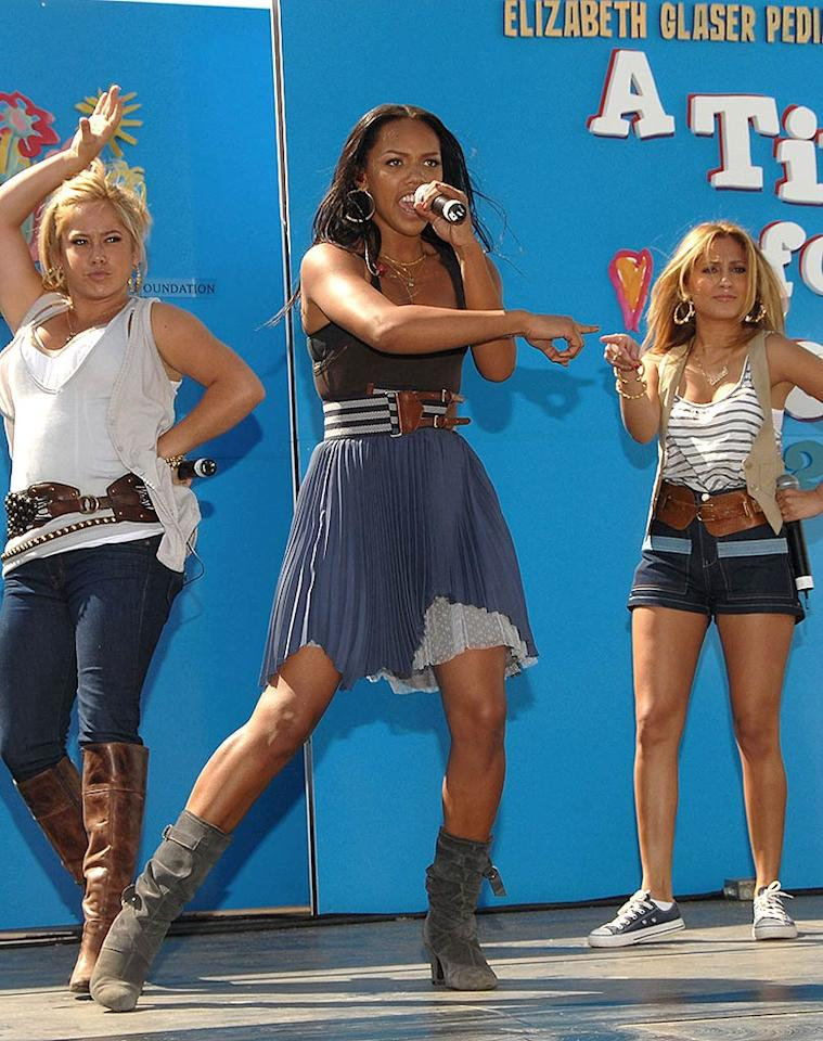 "Cheetah Girls Sabrina Bryan, Kiely Williams, and Adrienne Bailon kick off the event. Disney generously sponsored the celebrity carnival. Mark Sullivan/<a href=""http://www.wireimage.com"" target=""new"">WireImage.com</a> - June 8, 2008"