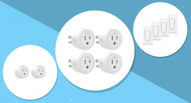 These smart plugs have a 4.1 out of 5 star review rating with over 2,400 reviews. (Photo: Amazon/Yahoo Lifestyle)