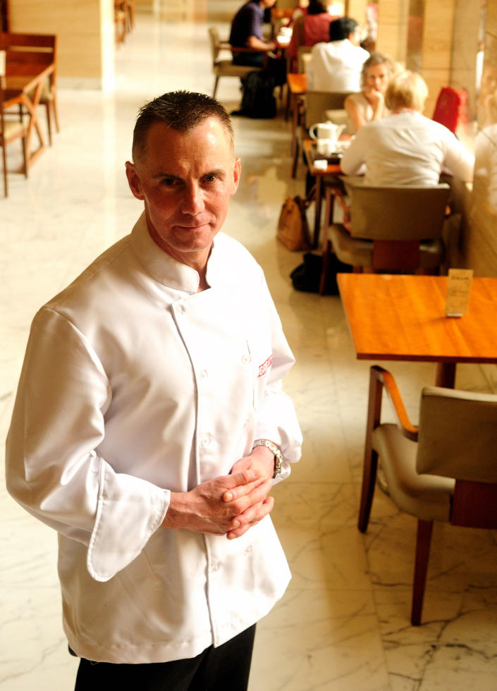 Chef Gary Rhodes photographed at the Hyatt Regency in Delhi. (Photo by Pradeep Gaur/Mint via Getty Images)