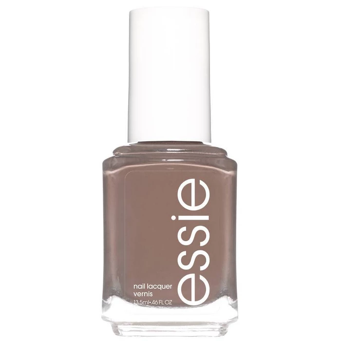 """$12, Essie Polish in Easily Suede. <a href=""""https://www.amazon.com/essie-nail-polish-trend-collection/dp/B07TWHT66F"""">Get it now!</a>"""
