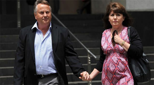 Ralph and Kathy Kelly pictured after the death of their eldest son, Thomas. Photo: AAP