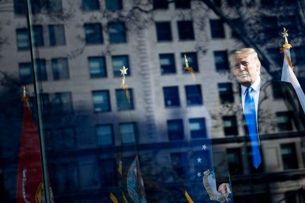 PHOTO: President Donald Trump arrives for a Veterans Day event at Madison Square Park in New York, Nov. 11, 2019. (Brendan Smialowski/AFP/Getty Images)