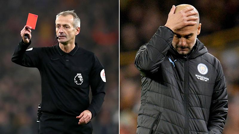 Pep Guardiola concedes Manchester City's hopes of catching Liverpool are unrealistic.