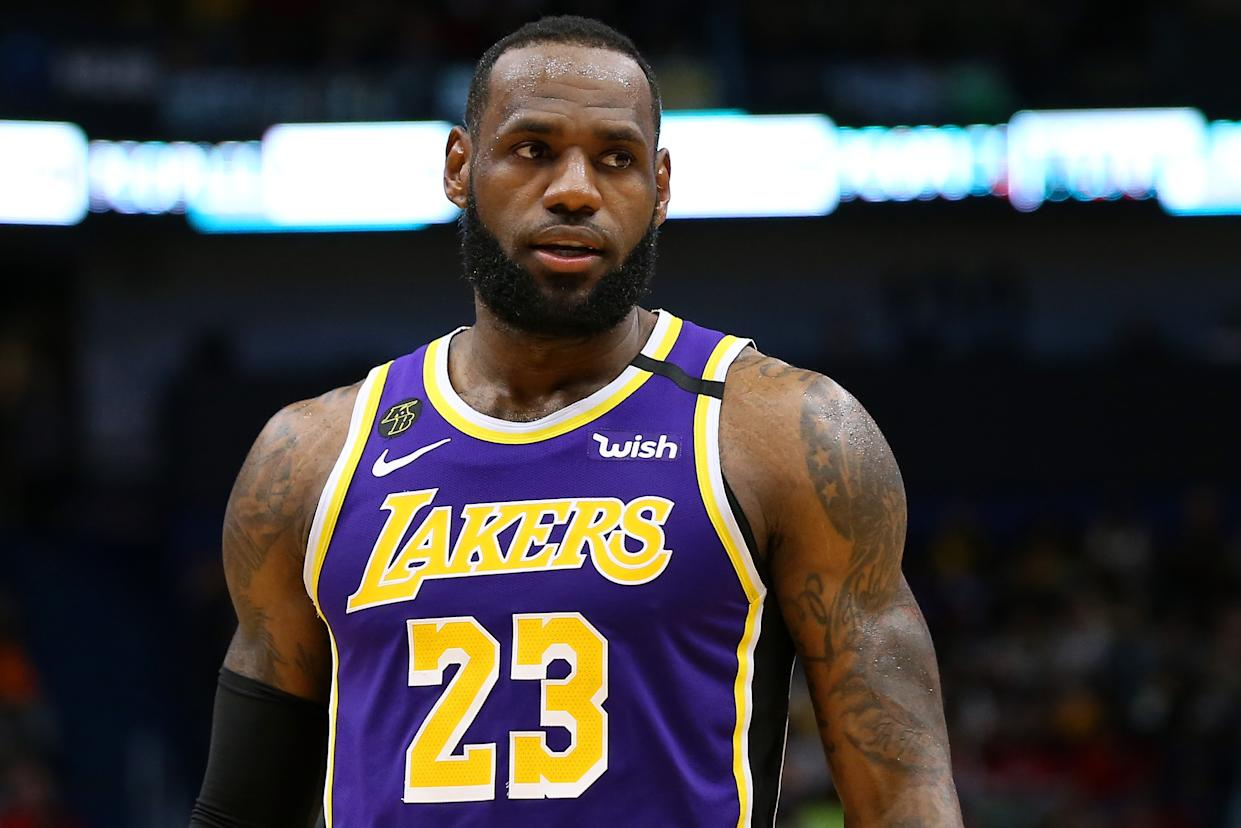 """LeBron James says he'd be """"disappointed,"""" but is willing to play games without fans if necessary. (Photo by Jonathan Bachman/Getty Images)"""