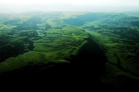 FILE PHOTO: An aerial view of the Gran Sabana, the high plain, in Canaima National Park located in the south-east of Venezuela in Bolivar State close to the borders with Brazil and Guyana, Jan. 13, 2005. REUTERS/Jorge Silva REUTERS/File Photo