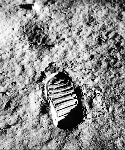 Footprint on the Moon from one of the Apollo 11 astronauts (AFP Photo/-)